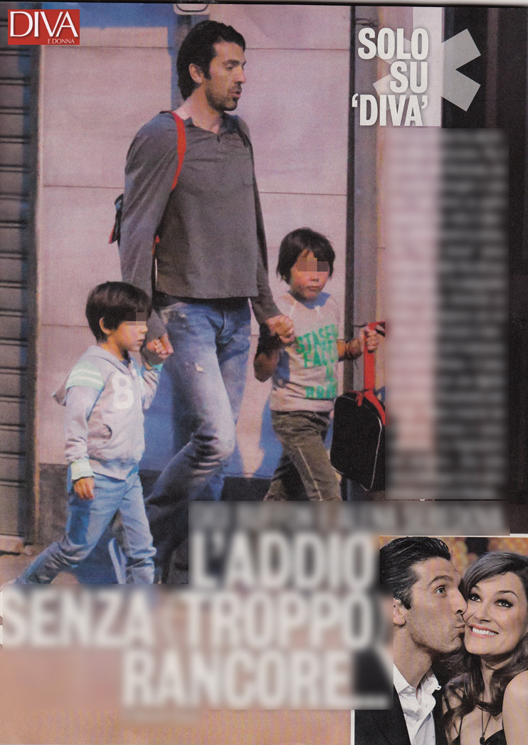 Gigi buffon ormai single riporta i suoi figli a casa da alena e fiorello ci scherza su - Diva futura su sky ...