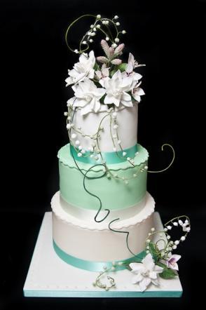 ... una torta nuziale in rappresentanza di una regione italiana